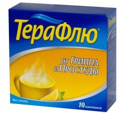 ТераФлю от гриппа и простуды, пор. д/р-ра д/приема внутрь 22 г №4 лимон