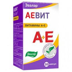 Аевит, Эвалар капс. 0.3 г №30 витамины А+Е